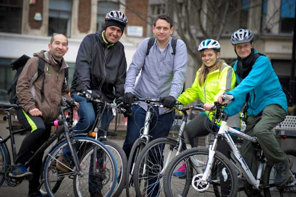Group of satisfied BikeRegister members